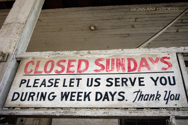 closed-sundays