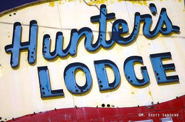 Hunter's Lodge, close-up