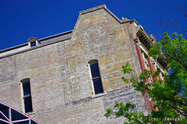 Ghost Sign across from the Alamo