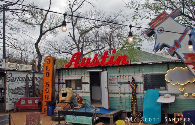 Roadhouse Relics Back Yard, Austin, TX