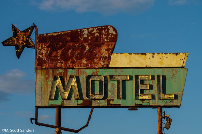 Port Motel sign, Port Trevorton, PA