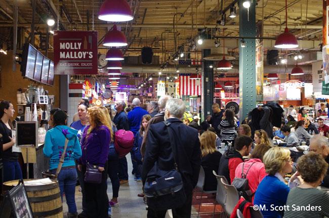Inside the Reading Terminal Market, Philadelphia, PA