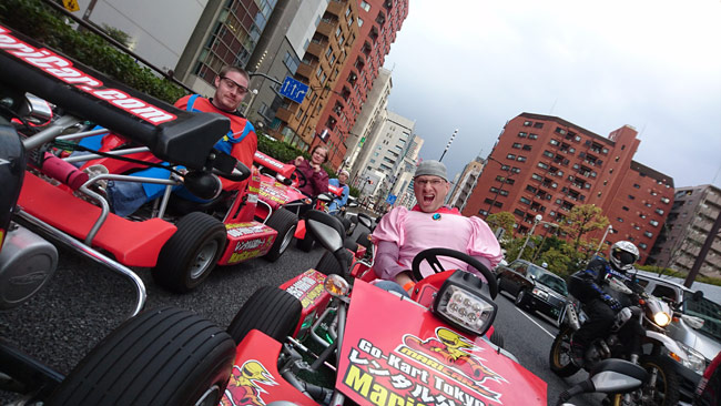 Riding Through the Streets of Tokyo. In a Go-Kart. In Costume.
