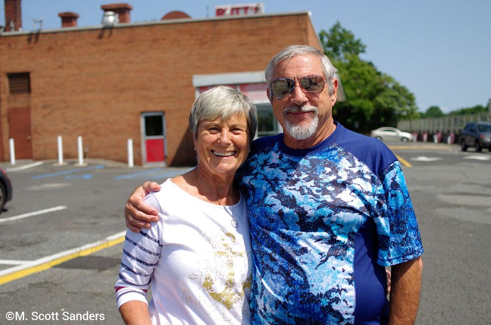 Mom and Dad at Rutt's Hut