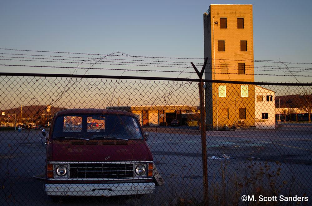 Tower and Dodge Van